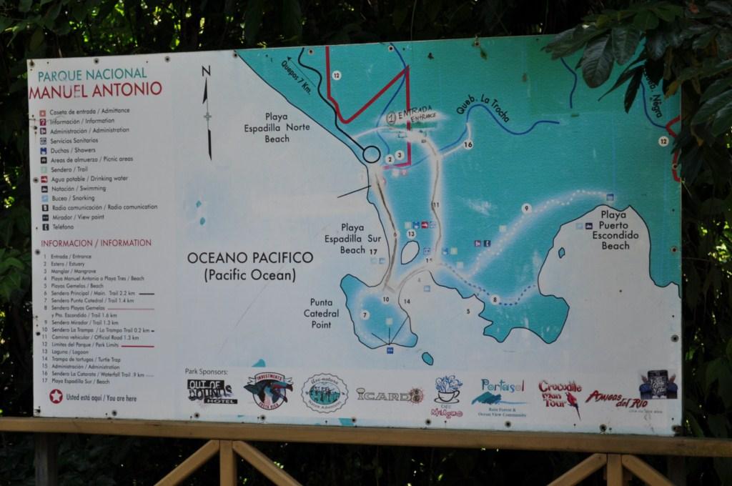 Mapa del Parque Nacional de Manuel Antonio en Costa Rica Parque Nacional Manuel Antonio en Costa Rica, el más pequeño y más popular - 7734638836 8e4cb91ea8 o - Parque Nacional Manuel Antonio en Costa Rica, el más pequeño y más popular