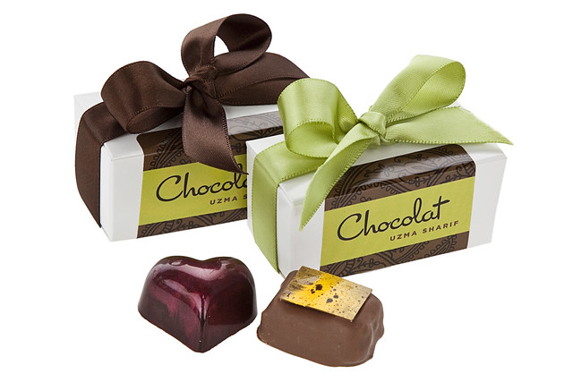 2 piece favor box by Chocolat Uzma