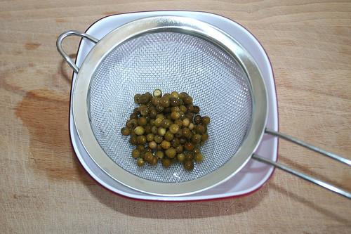 11 - Pfefferkörner abtropfen lassen / Drain peppercorns