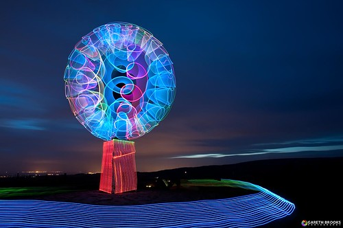 longexposure lightpainting colorful led colourful beaconfell lightpollution ledlenser garethbrooks swirlyorb