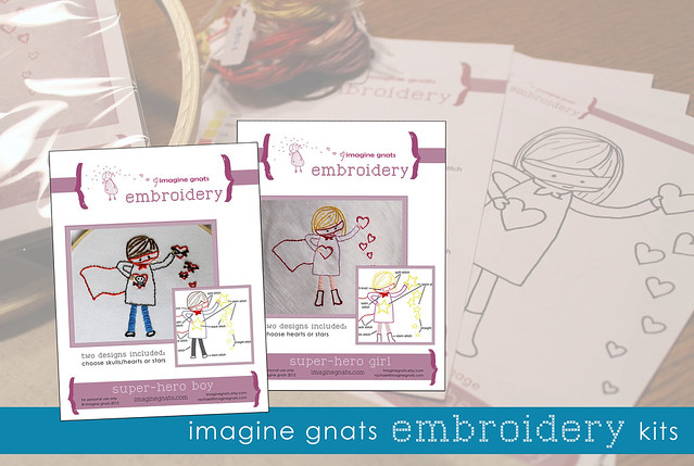 available now: embroidery kits!!