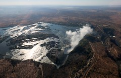Panorama: Victoria Falls and Zambezi from above