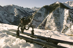CineSkates on snow skis!