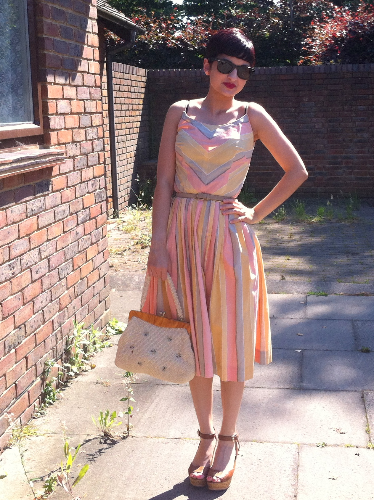 peach melba dress