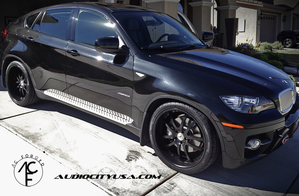 Bmw X6 Lowered On 22 Quot Ac Forged Matte Black Wrapped With