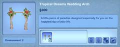 Tropical Dreams Wedding Arch