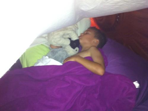 Ezra's sleeping tent