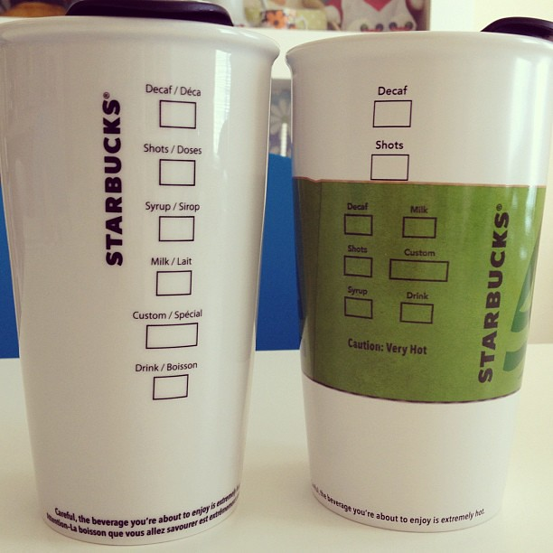 Glass Starbucks Mugs