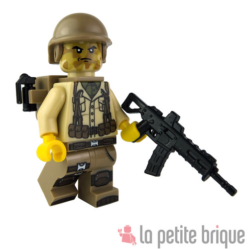 Lego Custom Minifig US Soldier using different custom parts. by La Petite Brique