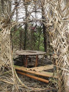 《米塔 Mita》內部空間,可以坐在這裡喝舒米茶仰望天空。