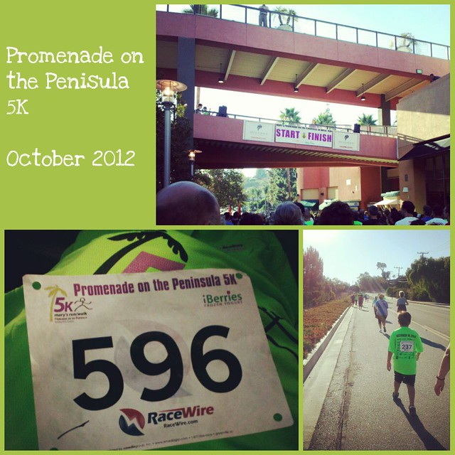 Promenade on the Penisula 5K October 2012