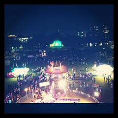 Homecoming! View from the top of the Ferris wheel #tulane #onlyattulane #wave12