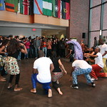 African celebration dancing