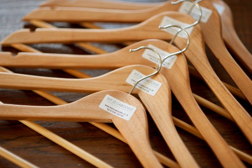Clothes hang better on wooden hangers