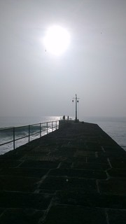 Harbour Wall Silhouette
