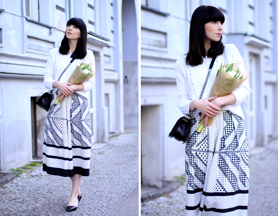 Spring outfit look asos pants pattern white look minimalist romantic CATS & DOGS fashion blog berlin 6