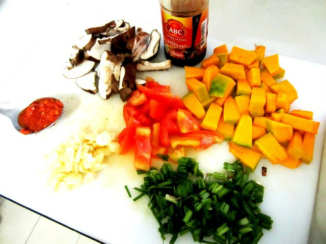 Vegetarian fried rice - ingredients