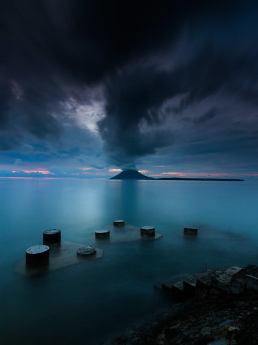 sunset beach dark indonesia landscape dock explore manado traveler bunaken southsulawesi