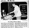 8/28/1973 The first patron of the new location of the Olean Public Library. #tbt