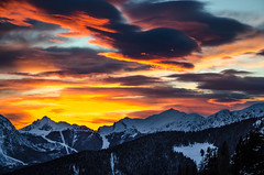 Alpine sunset