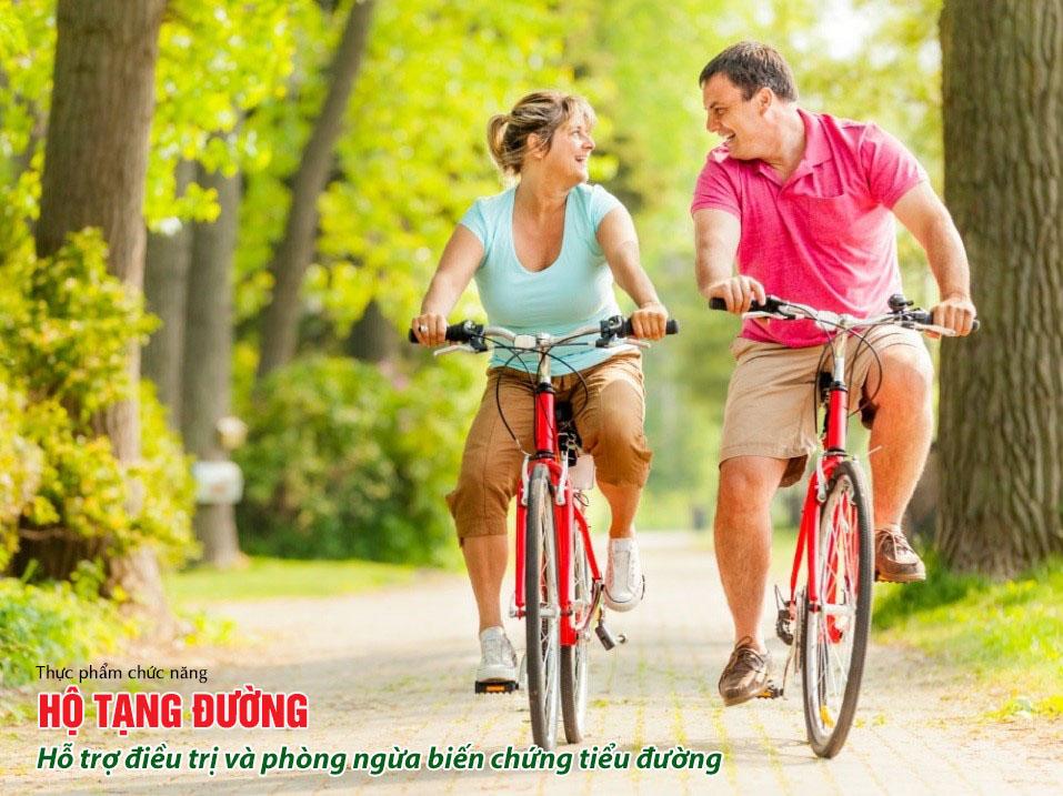 Người bị biến chứng thần kinh ngoại biên do tiểu đường nên đi xe đạp