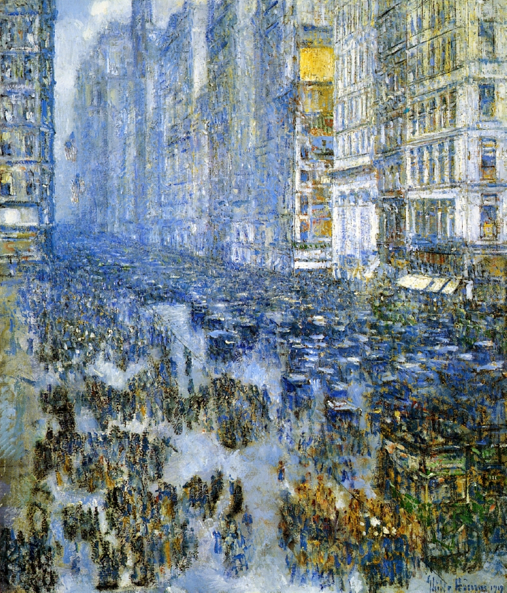 Fifth Avenue In Winter by Childe Hassam, 1919