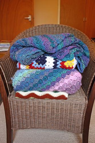 Blanket pile!