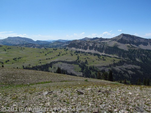 Housetop Mountain (right) from the slopes of Fossil Mountain, Jedediah Smith Wilderness Area near Grand Teton National Park, Wyoming