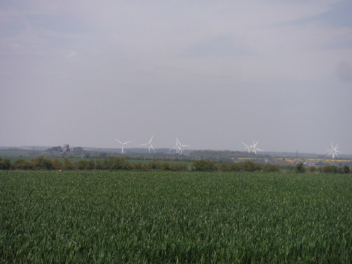 Wind Farm and Water Tower, from Claybush Hill