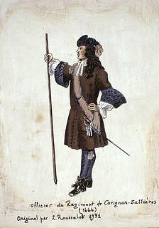 Officer of the Carignan-Salières Regiement, 1666 / Officier du Regiment de Carigan - Sallières, 1666
