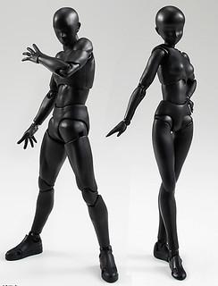 科南的犯人再現?!S.H.Figuarts 素體 男女版 Solid black Color Ver.