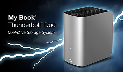 My Book Thunderbolt Duo is Western Digital's first external hard disk based on Thunderbolt technology.