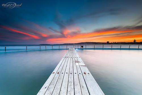 ocean sunset seascape beach water pool clouds sydney australia nsw newsouthwales northernbeaches northnarrabeen