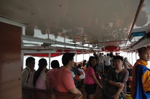 水上バスに乗りました。