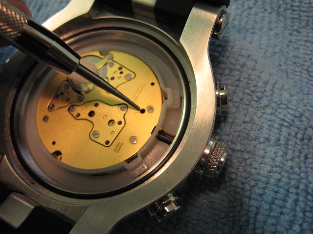 how to remove stem winder from a quartz watch