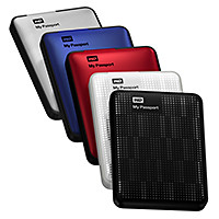 My Passport portable drives come in many colours.