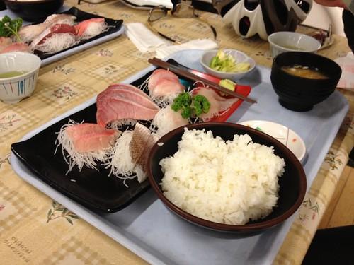 刺身6点盛りの定食