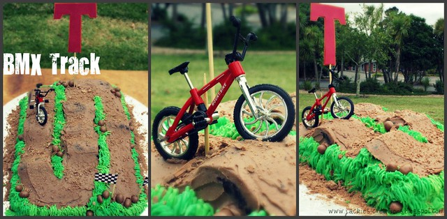 BMX Track Cakes http://www.flickr.com/photos/jackies-creations/6959037932/