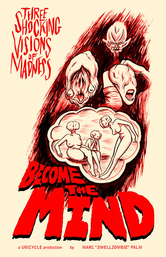 Become the Mind second printing cover by Marc Palm AKA Swellzombie