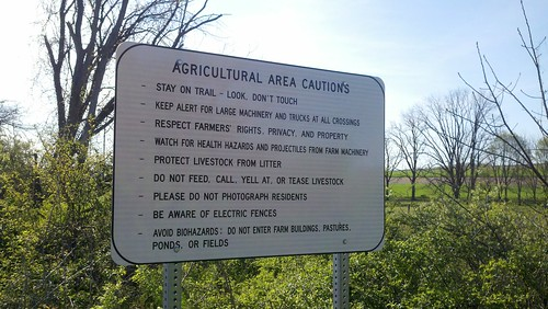 Agricultural area cautions