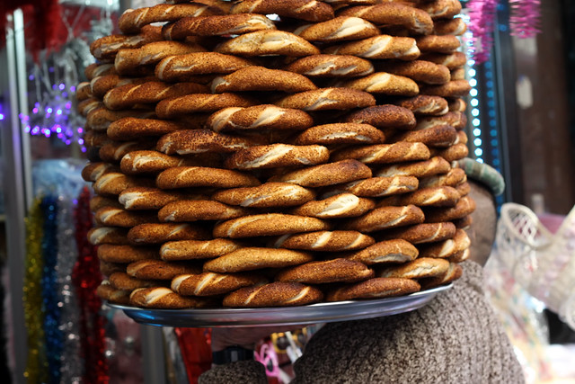Simit on Sale in Istanbul by Olga Irez of Delicious Istanbul
