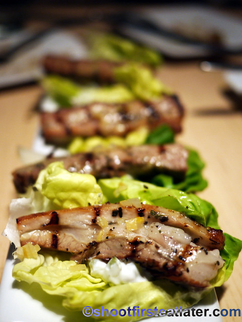 moshar souvlaki (veal breast) $10