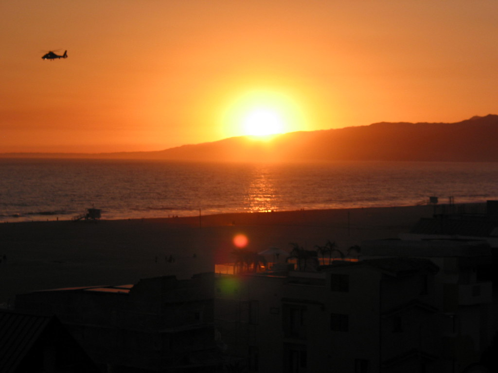 Santa Monica Sunset, California USA
