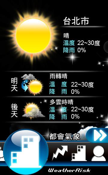 Nokia Widget 行動天氣