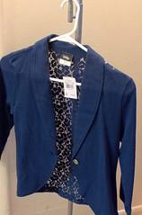 pocket(0.0), sweater(0.0), textile(1.0), clothing(1.0), sleeve(1.0), blazer(1.0), cobalt blue(1.0), outerwear(1.0), jacket(1.0), formal wear(1.0), blue(1.0),