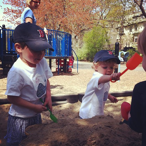 Sandbox playing.