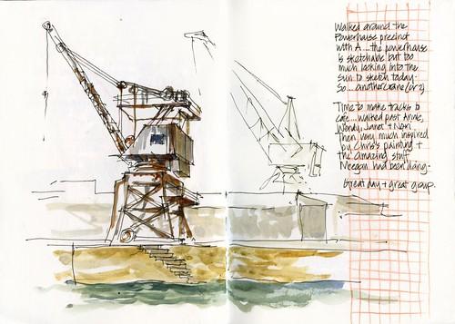 120421 Sketchcrawl35_04 ANother Crane(s)