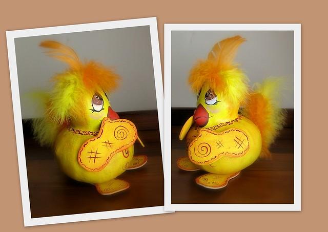 pintainho cabacinha (de lado) - gourd chick (side view)