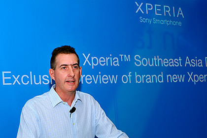 Mathew Lang, Corporate Vice President and Head of SEA & Oceania Customer Unit, Sony Mobile at the event at Art Palates Café, Istana Park, Singapore.
