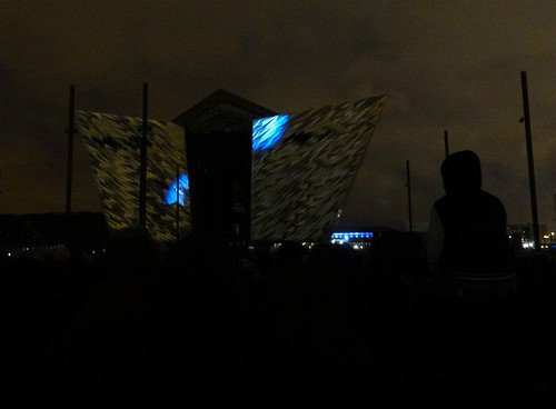 Titanic Belfast Light Show 01